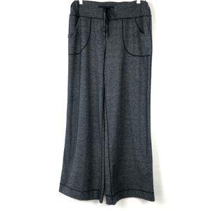 LuluLemon heathered Black Be still relaxed Pants 8